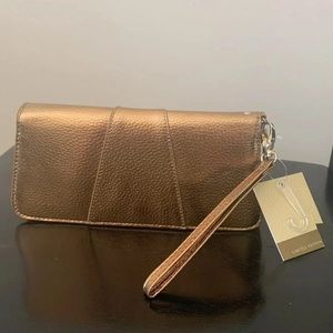 Gold Wristlet Converts to Gold Wallet